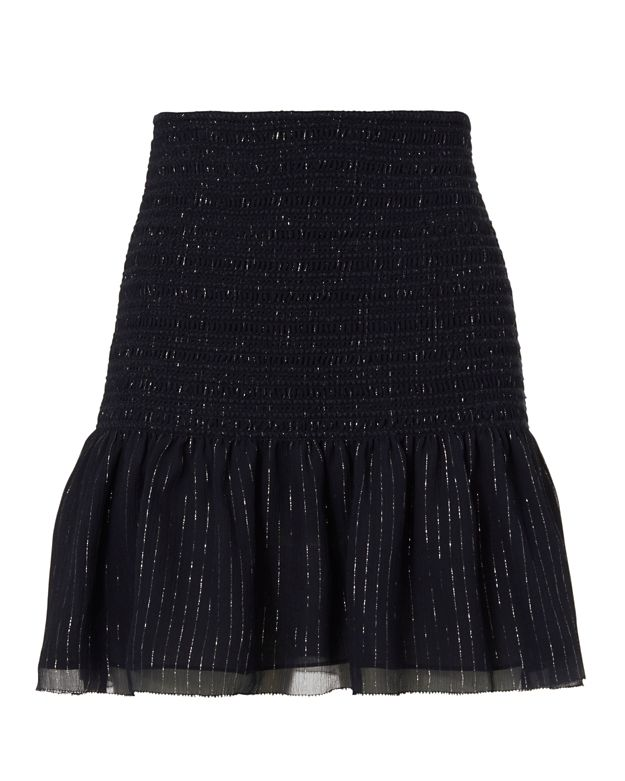 Derek Lam 10 Crosby Crinkled Hem Mini Skirt