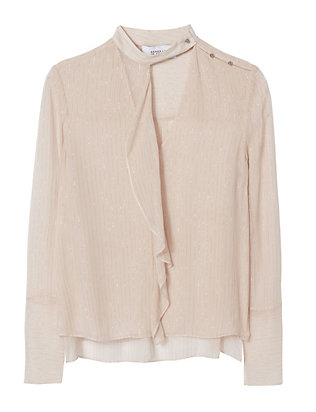 Derek Lam 10 Crosby EXCLUSIVE Crinkled Lurex Shirt