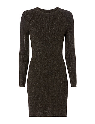 Lurex Rib Knit Dress