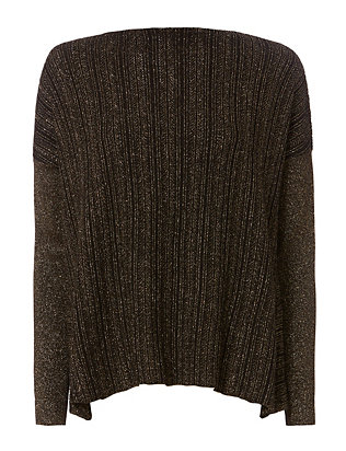 Lurex Crossover Knit Top