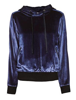 Silk-Lined Velvet Hoodie