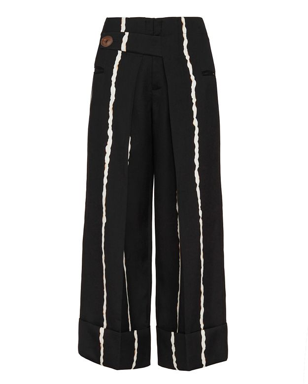 Derek Lam 10 Crosby Striped Silk/Wool Pant