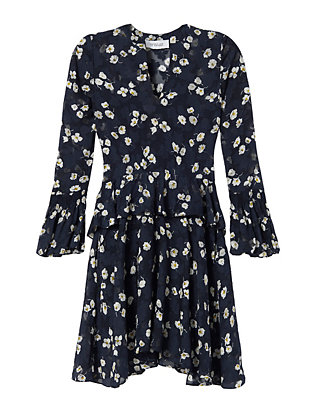 Bell Sleeve Daisy Print Dress