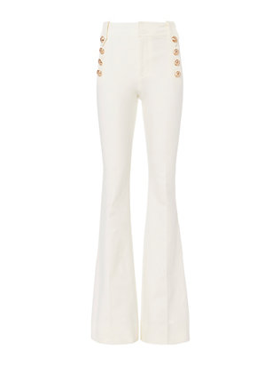 Derek Lam 10 Crosby Flare Sailor White Trousers