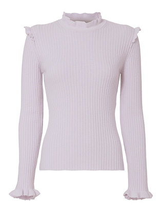 Derek Lam 10 Crosby Ruffled Fitted Sweater