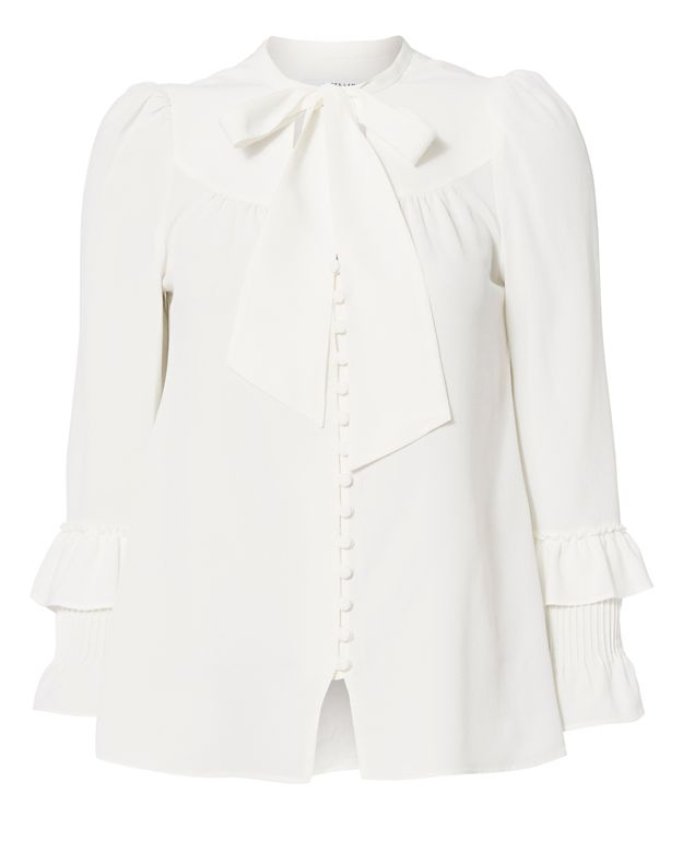Derek Lam 10 Crosby Pleated Cuff Button Placket Blouse