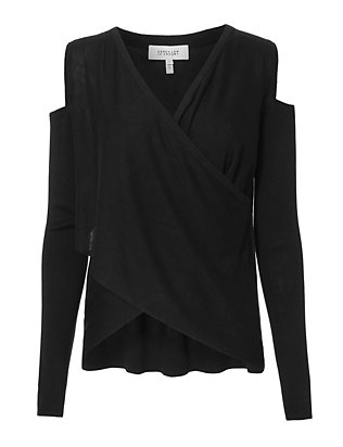 Derek Lam 10 Crosby Cold Shoulder Black Sweater