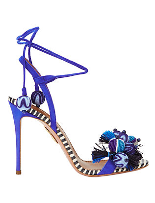 Aquazzura Tropicana Beaded Stiletto Sandals