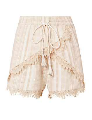TRYB212 Lea Lace Trim Shorts