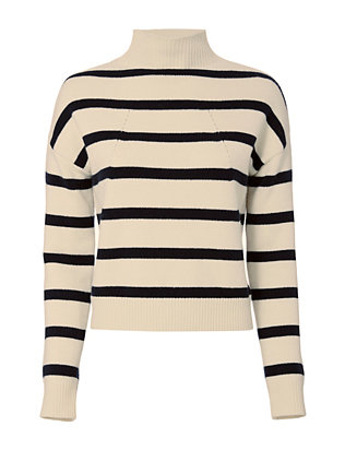 Tabula Rasa Albright Striped Boxy Turtleneck