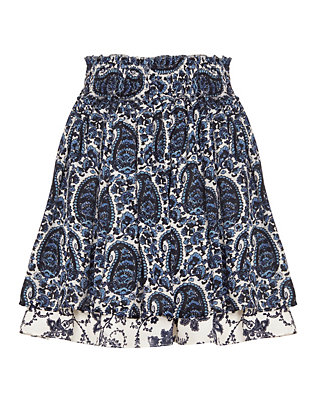 Derek Lam 10 Crosby EXCLUSIVE Paisley Print Flounce Mini Skirt