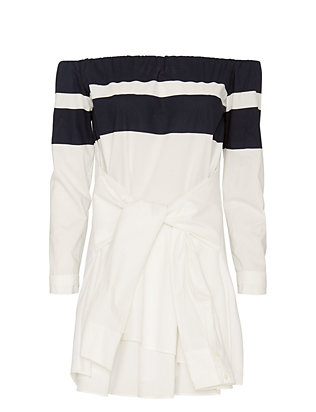 Derek Lam 10 Crosby EXCLUSIVE Off The Shoulder Shirtdress