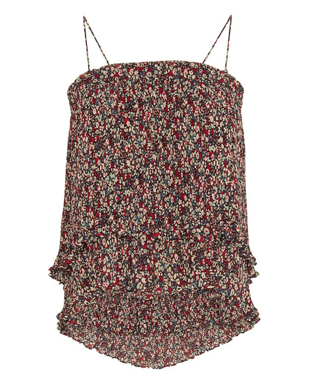 Derek Lam 10 Crosby 2 in 1 Pleated Print Cami/Skirt