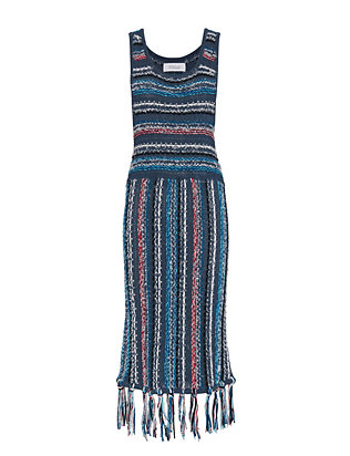 Derek Lam 10 Crosby Tassel Hem Knit Dress