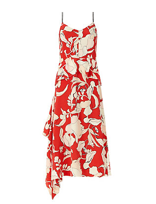 Derek Lam 10 Crosby Peplum Floral Print Dress