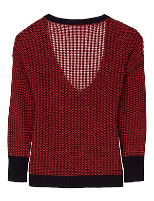 Derek Lam 10 Crosby EXCLUSIVE Cross Front Sweater: Red/Navy
