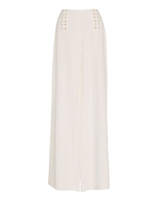Derek Lam 10 Crosby EXCLUSIVE Lace-Up Matte Satin Pant