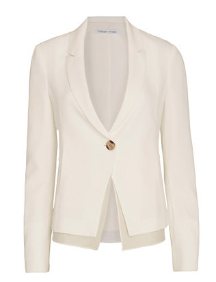 Derek Lam 10 Crosby EXCLUSIVE Fluid Blazer: White