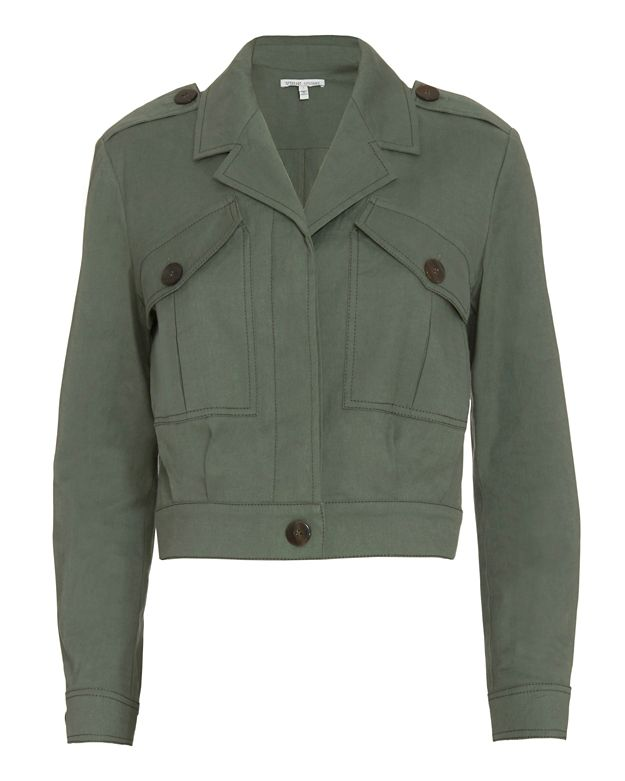 Derek Lam 10 Crosby EXCLUSIVE Cropped Army Jacket