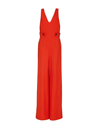 Derek Lam 10 Crosby EXCLUSIVE Wide-Leg V Jumper: Red