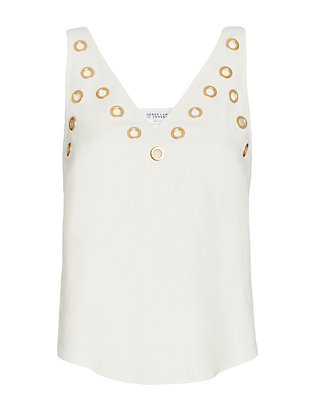 Derek Lam 10 Crosby EXCLUSIVE Grommet Detail Matte Satin Tank