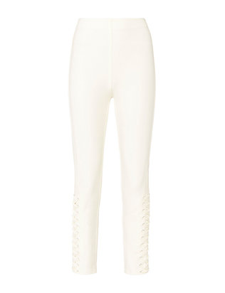 Derek Lam 10 Crosby White Lace-Up Skinny Pants
