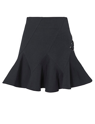 Derek Lam 10 Crosby Flared Lace-Up Mini Skirt