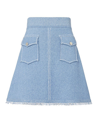 Derek Lam 10 Crosby Knit Denim Mini Skirt