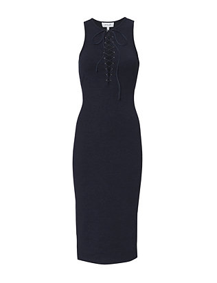 Derek Lam 10 Crosby Ribbed Lace-Up Dress