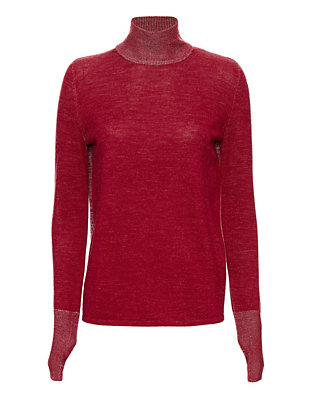 Dion Lee Melange Open Back Loop Knit Sweater