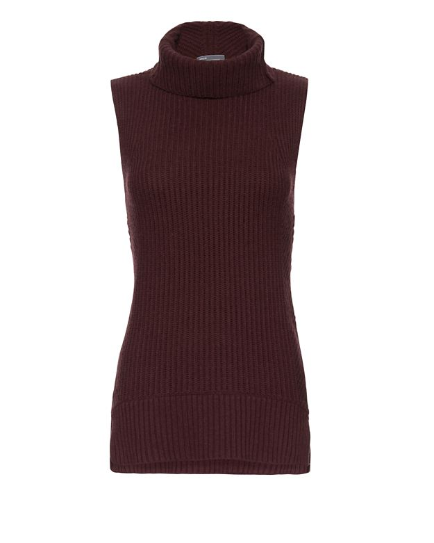 Vince Ribbed Turtleneck: Bordeaux