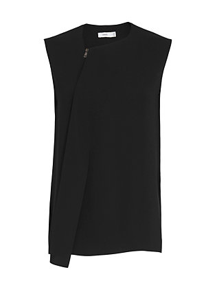 Vince Draped Zipper Blouse