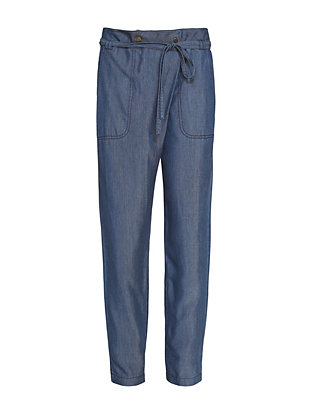 Vince Wrap Front Chambray Pant