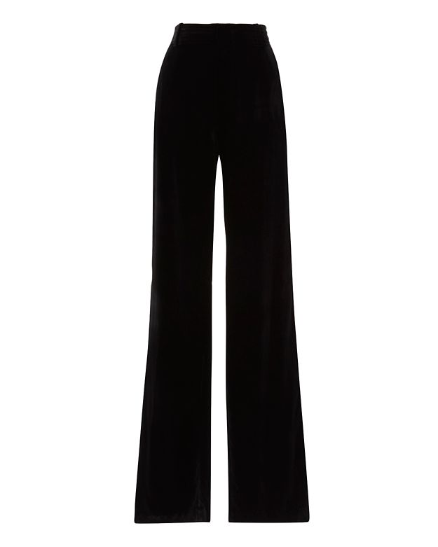 Vince Soft Velvet Wide-Leg Trousers