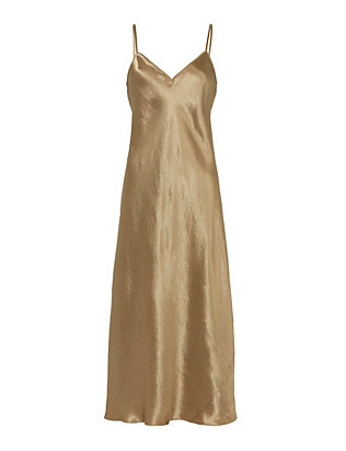 Vince Satin V-Neck Slip Dress