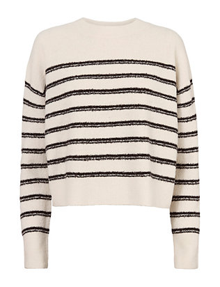 Vince Cropped Stripe Sweater