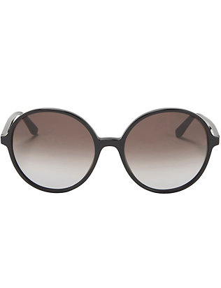 Valentino Oversized Round Sunglasses: Black