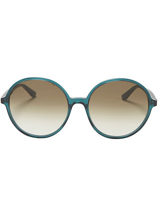 Valentino Oversized Round Sunglasses: Green