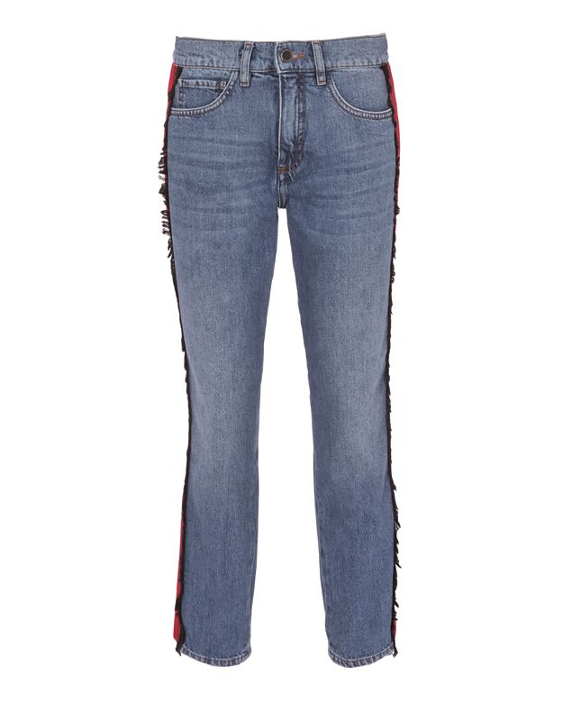 Victoria, Victoria Beckham Grosgrain Military Ribbon Jeans