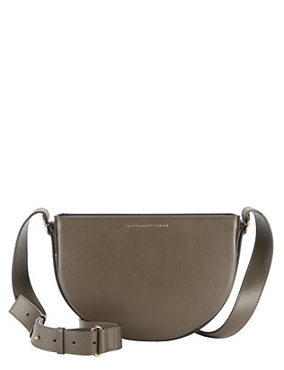 Victoria Beckham Half Moon Leather Crossbody
