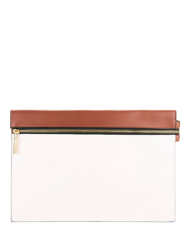 Victoria Beckham Colorblock Zipper Clutch