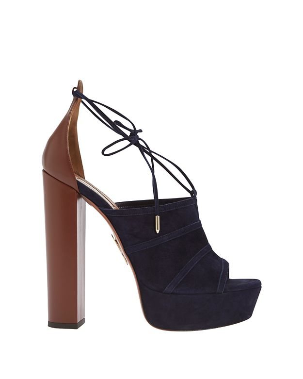 Aquazzura Very Eugenie Colorblock Platform Sandal