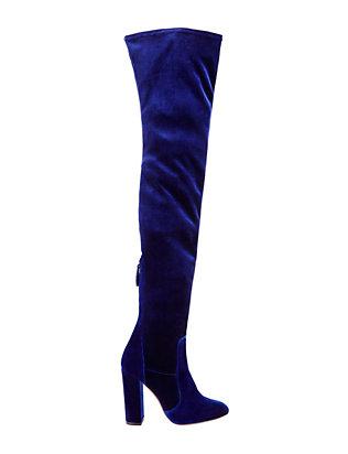 Velvet Over-The-Knee Boots