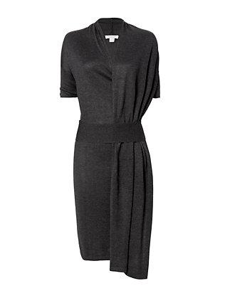 Belted Wrap Knit Dress