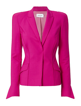 Pink Stretch-Wool Blazer