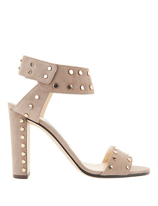 Jimmy Choo Veto Studded Suede Sandals