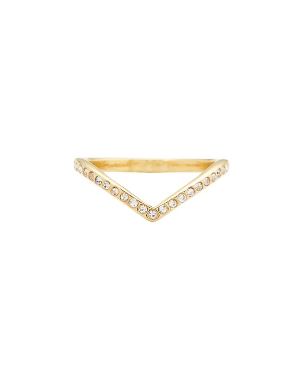 Vita Fede Crystal V Ring: Gold