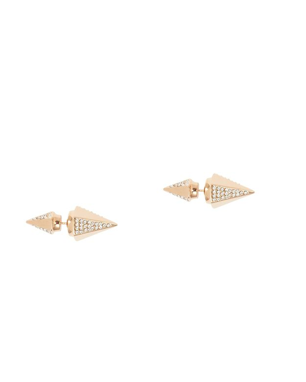 Vita Fede Titan Crystal Double Hex Earrings