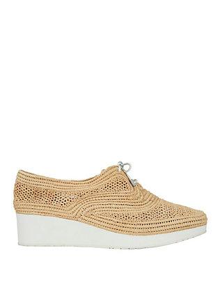 Raffia Platform Sneakers