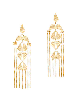 Mallarino Violaine Long Chandelier Earrings